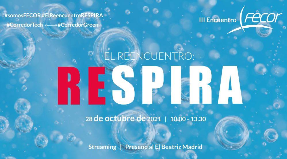 El III Encuentro FECOR tendrá lugar el 28 de octubre bajo el lema El Reencuentro: RESPIRA.