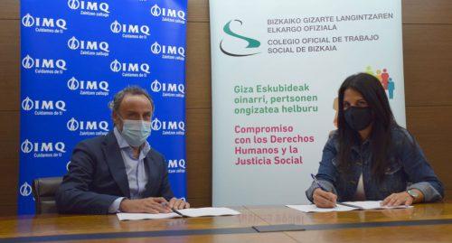 El Colegio Oficial de Trabajo Social de Bizkaia firma con IMQ para proteger la salud de sus personas colegiadas.