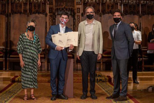 La Fundación Jesús Serra entrega a Sandro Gegechkori el Primer Premio de la 66ª edición del Concurso de Música Maria Canals.