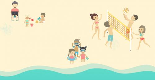 Sanitas recomienda rugby o voleibol para fomentar la inclusión en la playa.