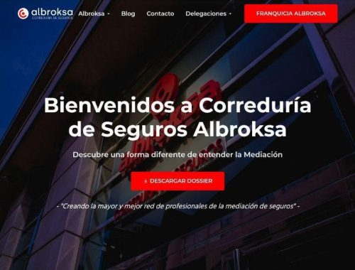 La correduría de seguros Albroksa rediseña su sitio web para cumplir con los estándares de usabilidad y rapidez que hoy en día se exigen.