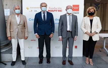 Fundación Mapfre activa un centro para realizar pruebas gratuitas de antígenos en el WIZINK CENTER, en Madrid.
