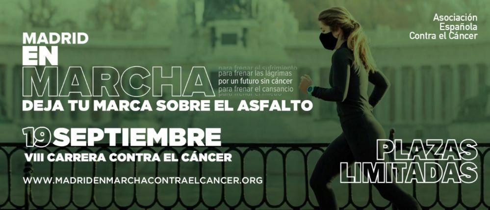 El 19 de septiembre se corre la VIII Carrera Madrid en marcha contra el cáncer.