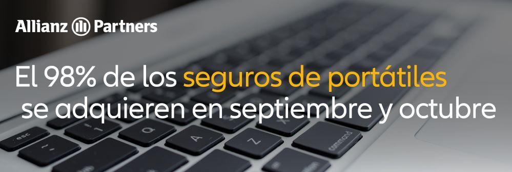 El 98% de los seguros de portátiles se adquieren en septiembre y octubre, coincidiendo con la vuelta al cole.