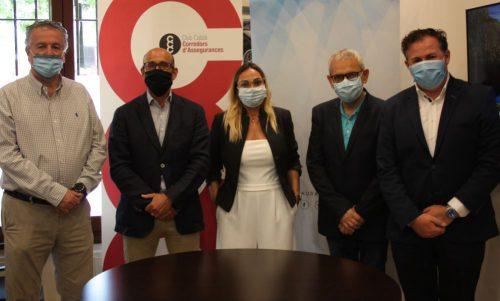 Aura Seguros y Club Català de Corredors d'Assegurances (CCC) firman un acuerdo de colaboración.