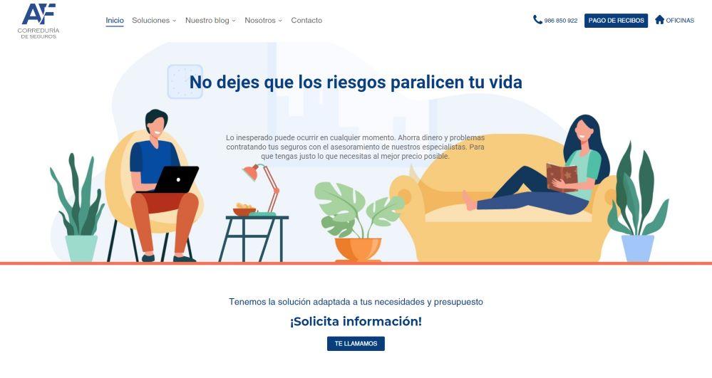 AyF Correduría presenta su nueva web.