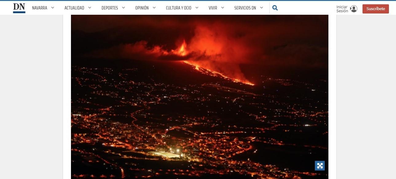 ¿El seguro de hogar cubre los daños del volcán en La Palma? Diario de Navarra.