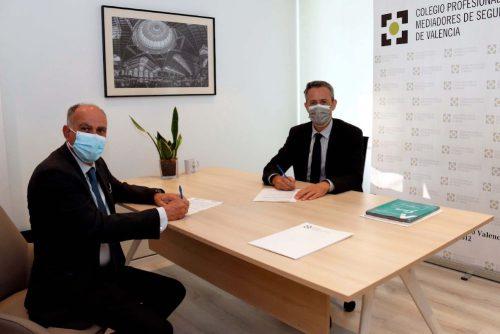 Caser renueva su acuerdo de colaboración con el Colegio de Mediadores de Seguros de Valencia.