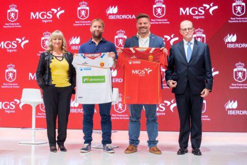 MGS Seguros acoge la presentación de las nuevas equipaciones nacionales del hockey español.